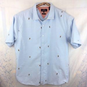 Michael Brandon Toucan Shirt Slim Fit XL